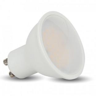 LED Спот лампа - GU10, 3W, Пластик бял, 110°, Дневна светлина