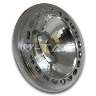 LED Спот лампа - AR111, 15W, 12V, Beam 40, Sharp чип, Бяла светлина