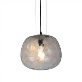 Pendant - E27, Ø300, 3 Wire Suspension, Glass, Transparent
