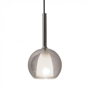 Пендел - Е27, Ø180, Двойно стъкло, Сив + Бял