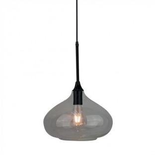 Pendant - E27, Ø280, Modern, Shiny glass, Black