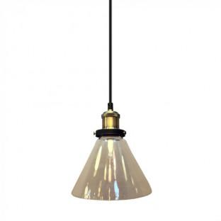 Pendant - E27, f180, Glass, Cone, Transparent