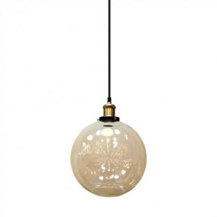 Pendant - E27, f250, Glass, Sphere, Vintage
