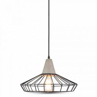 LED Пендел, бетон, E27, шапка решетка, Ф330