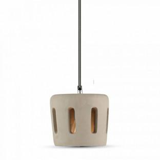 LED Пендел, бетон, E27, шапка с отвори, ф200