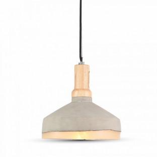 LED Пендел, бетон, E27, акрилна шапка, ф290