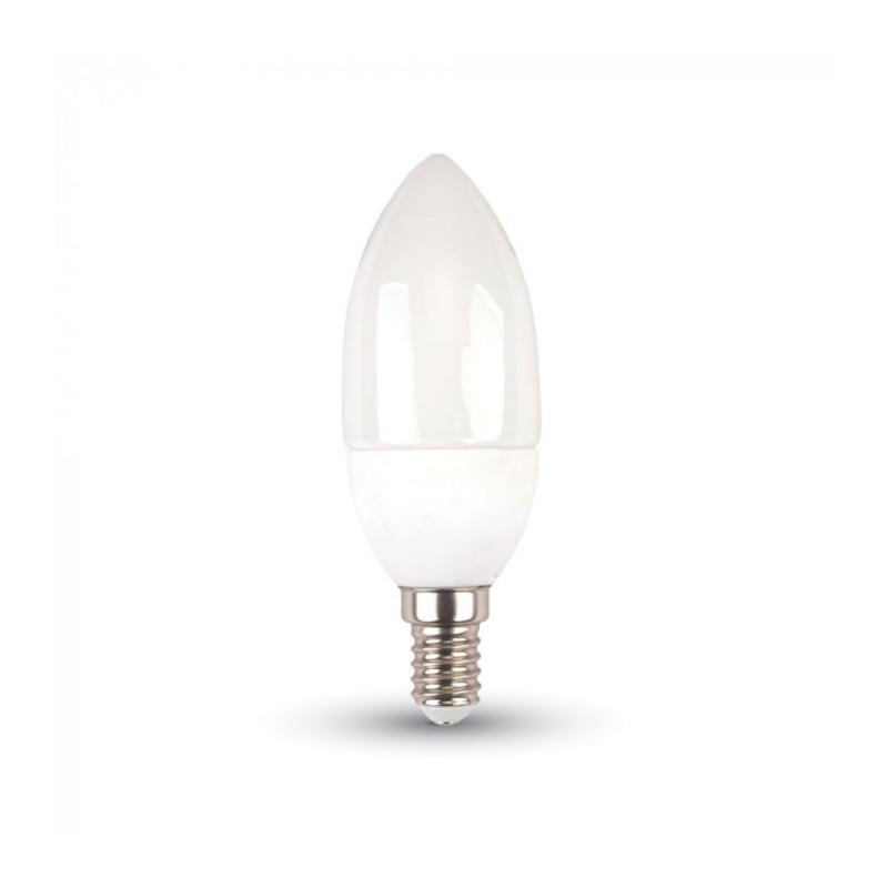LED Крушка - E14, 5.5W, Samsung чип, Кендъл, Топло бяла светлина