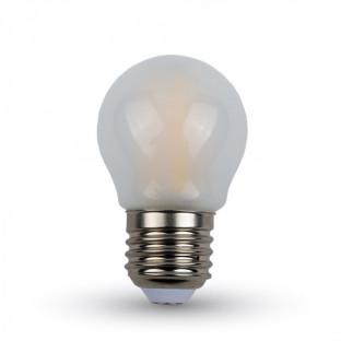 LED Крушка - 4W, Filament, E27, G45, Матирано Покритие, Бяла Светлина