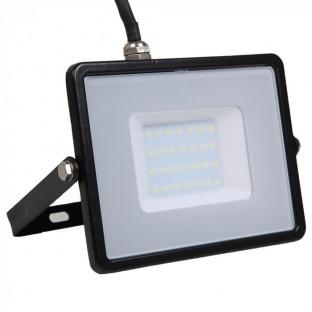 LED Прожектор - 30W, SMD, Samsung чип, 5 години гаранция, Черно тяло, Топло бяла светлина
