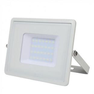 LED Floodlight - 30W, SMD, Samsung chip, 5 years warranty, White body, Warm white light