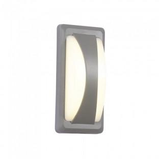 LED Фасаден Аплик - 12W, Сив, IP64, Топло бяла светлина