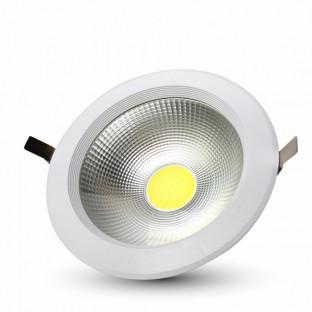 LED COB Луна - 30W, Кръгла, А++ 120Lm/W, Бяла светлина
