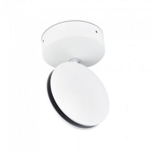 LED Стенна лампа - 7W, Бяло тяло, IP65, Топло бяла светлина