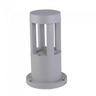 LED Градинска лампа - 10W,  25см, Сиво тяло, Бяла светлина