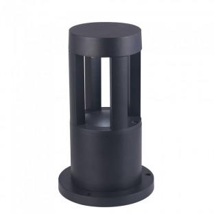 LED Градинска лампа - 10W,  25см, Черно тяло, Бяла светлина