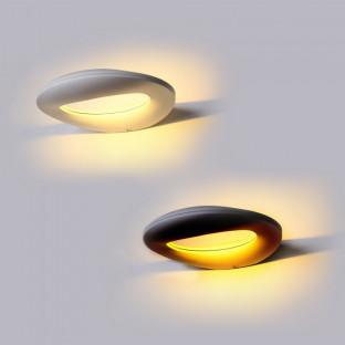 LED Стенна лампа - 10W, Бяло тяло, Топло бяла светлина