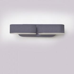 LED Стенна Лампа Двойна - 12W, Сиво тяло, Подвижна, IP65, Топло бяла светлина