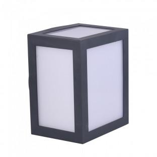 LED Стенна Лампа - 12W, Сиво тяло, IP65, Дневна светлина