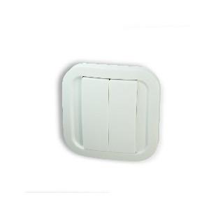 Z-Wave Plus - бял стенен превключвател