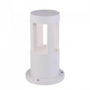 LED Градинска лампа - 10W,  25см, Бяло тяло, Бяла светлина