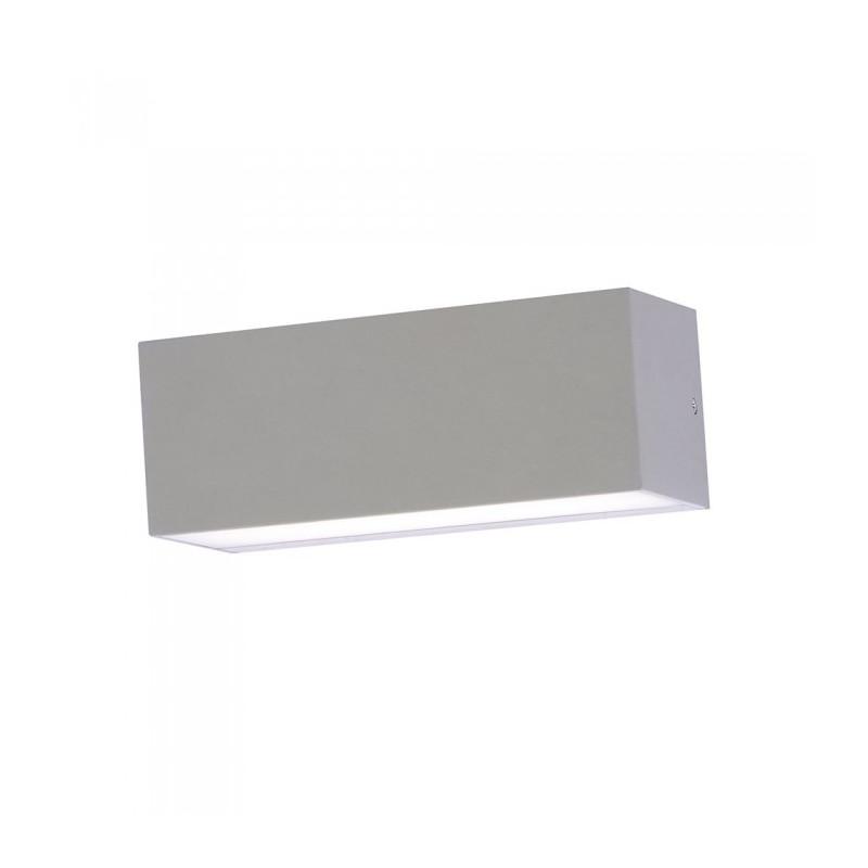 LED Фасаден Аплик - 12W, 2 Посоки, Сиво тяло, Топло бяла светлина