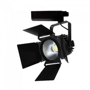 LED Прожектор SAMSUNG CHIP - 33W, Релсов монтаж, Черно тяло, Бяла светлина