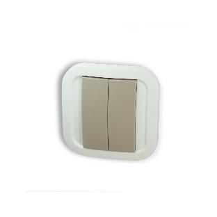 Z-Wave Plus - сив стенен превключвател