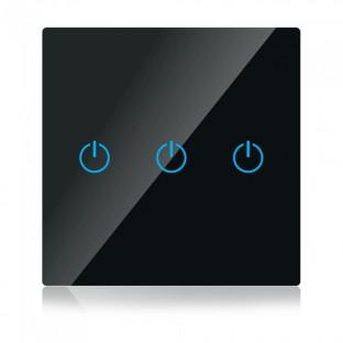 WIFI smart touch ключ - Сериен, Черен, Троен, Съвместим с Amazon Alexa и Google Home