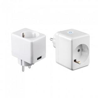 WIFI Smart mini plug with USB - Compatible with Amazon Alexa and google home
