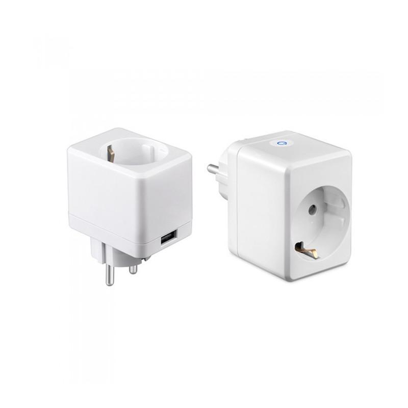 WIFI Smart Мини контакт със USB - Съвместим с Amazon Alexa и Google Home