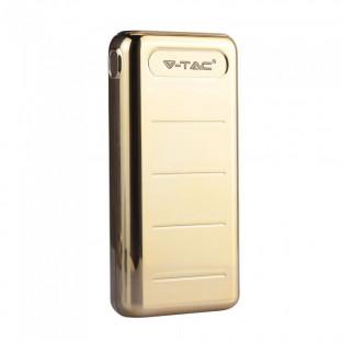 Външна батерия 20000 mAh - 2 x usb, златна