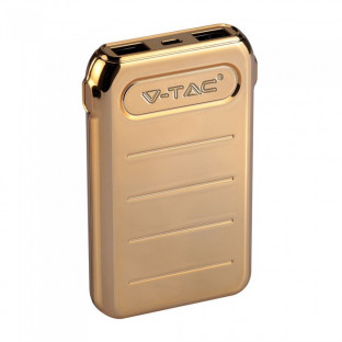 Power bank 10000 mah - 2 x usb, gold
