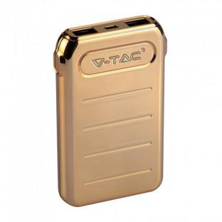 Външна батерия 10000 mah - 2 x usb, златна