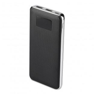 Външна батерия 10000 mah - 2 x usb, черна