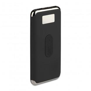 Външна батерия с безжично зареждане 10 000 mAh - дисплей, черна