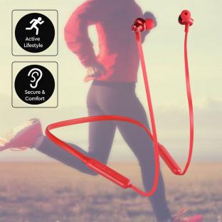 Wireless bluetooth headset - 500mAh, red