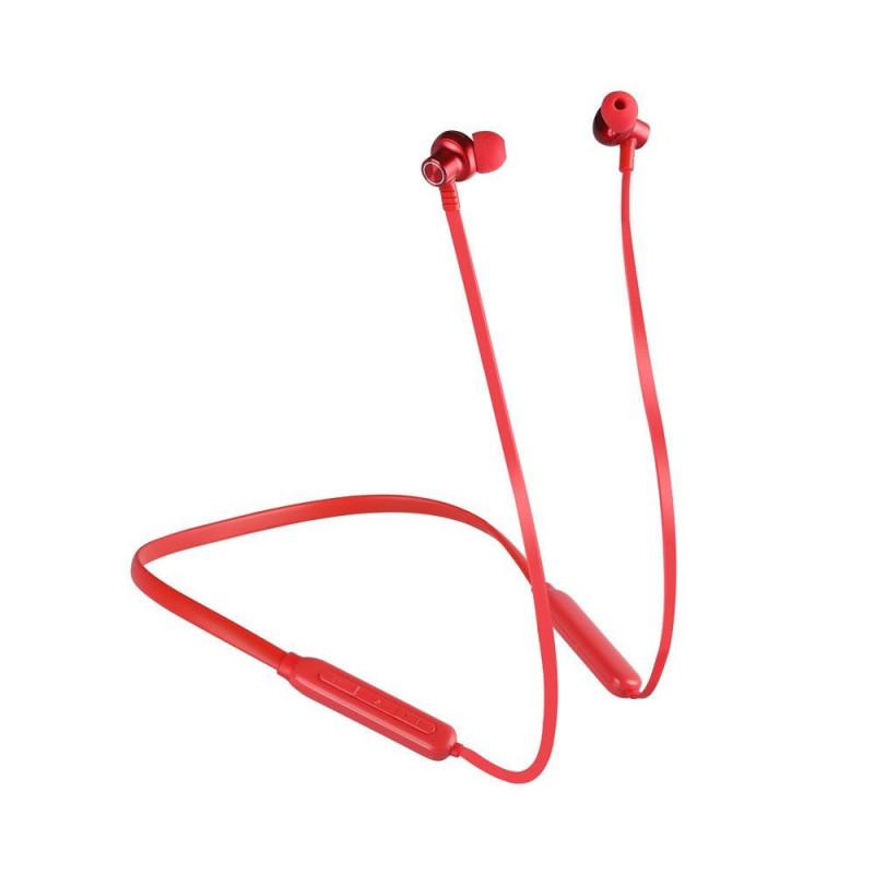 Безжични bluetooth слушалки - 500mAh, червени