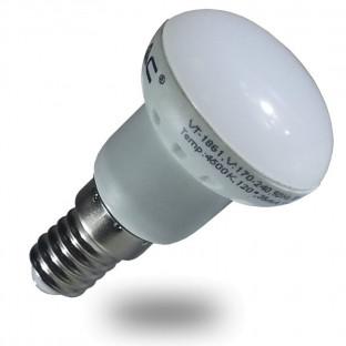 LED Крушка - E14, 3W, R39, Бяла светлина