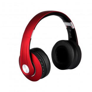 Bluetooth слушалки регулируеми - 500mAh, червени