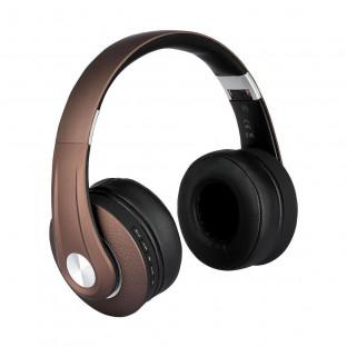 Bluetooth слушалки регулируеми - 500mAh, кафяви