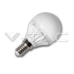 LED Крушка - E14, 4W, P45, Epistar чип, Дневна светлина