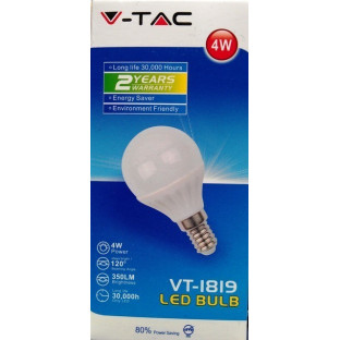 LED Крушка - E14 4W P45 Бял