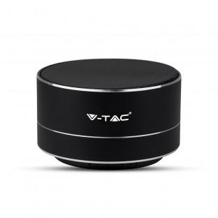 Metal bluetooth speaker with mic - 400 mAh, TF slot, black