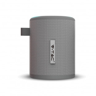Portable bluetooth speaker -1500 mAh, FM radio, grey