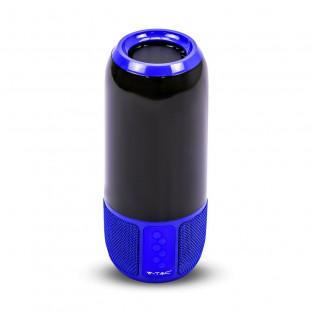 Bluetooth колонка с LED осветление - 2 x 3 W, USB + TF слот, синя
