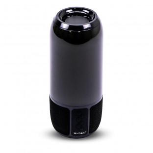 Bluetooth колонка с LED осветление - 2 x 3 W, USB + TF слот, черна