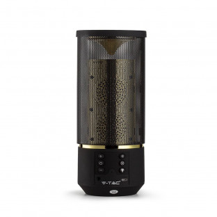 Bluetooth LED speaker - 6 light levels, AUX + TF slot, cylinder