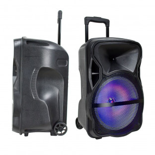 Portable speaker with wired microphone included - 35W, RGB LED lights