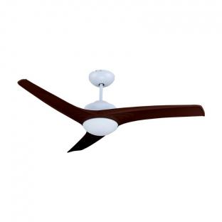 Вентилатор за таван с LED осветление - 35W, дистанционно управление, 3 перки, кафяв