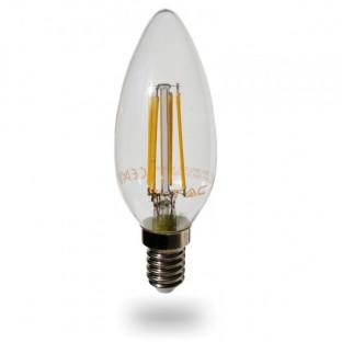 LED Крушка - E14, 4W, Димируем, Топло бяла светлина